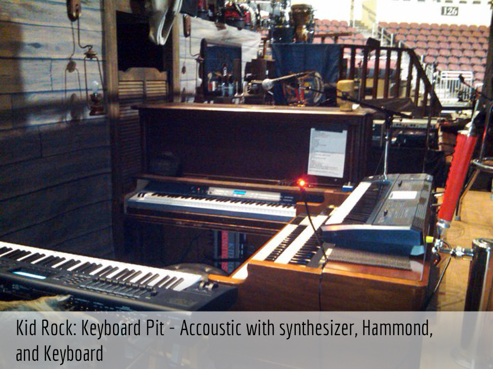 Kid Rock's keyboard pit